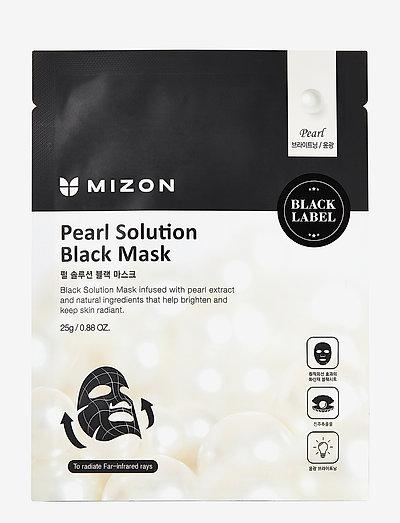Black Mask Pearl Solution - sheet mask - black
