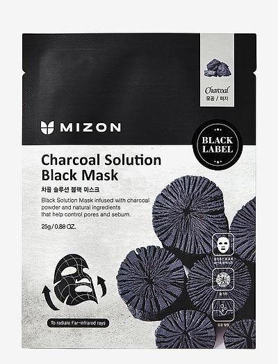 Black Mask Charcoal Solution - sheet mask - black