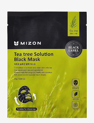 Black Mask Tea Tree Solution - sheet mask - black