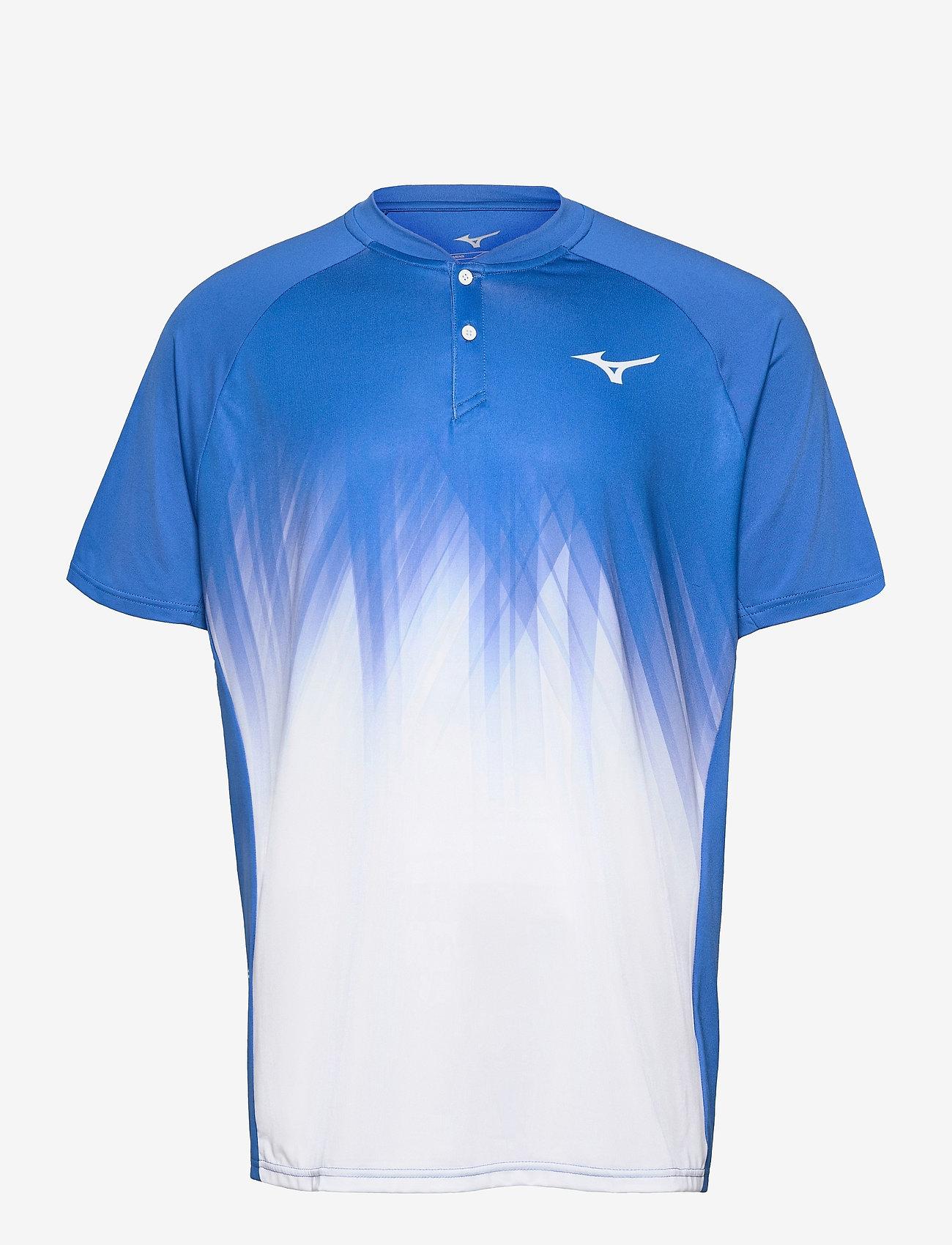 Mizuno - Shadow Polo(M) - t-shirts - nebulas blue/white - 0