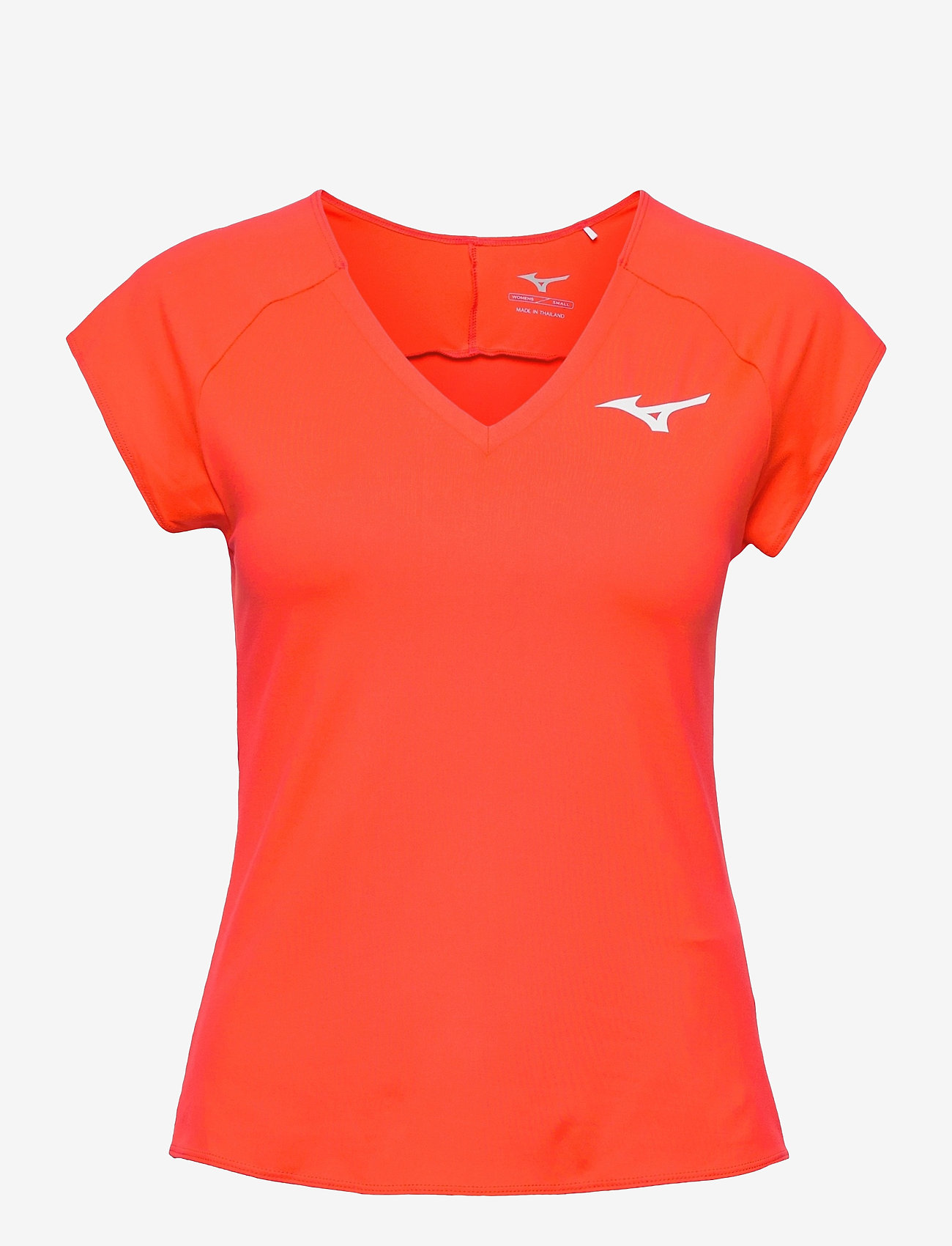 Mizuno - Tee(W) - t-shirts - mandarin red - 0