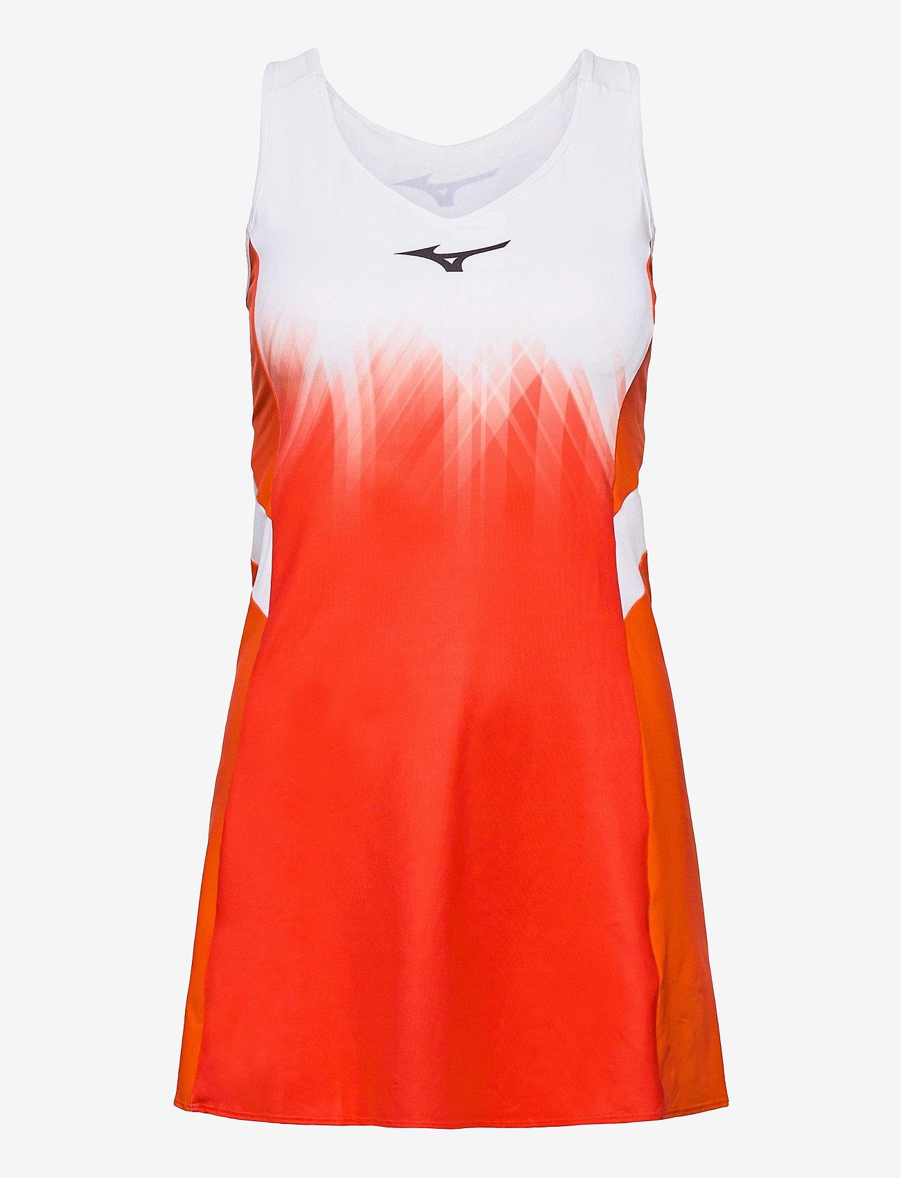 Mizuno - Printed Dress(W) - tshirt jurken - mandarin red/white - 0