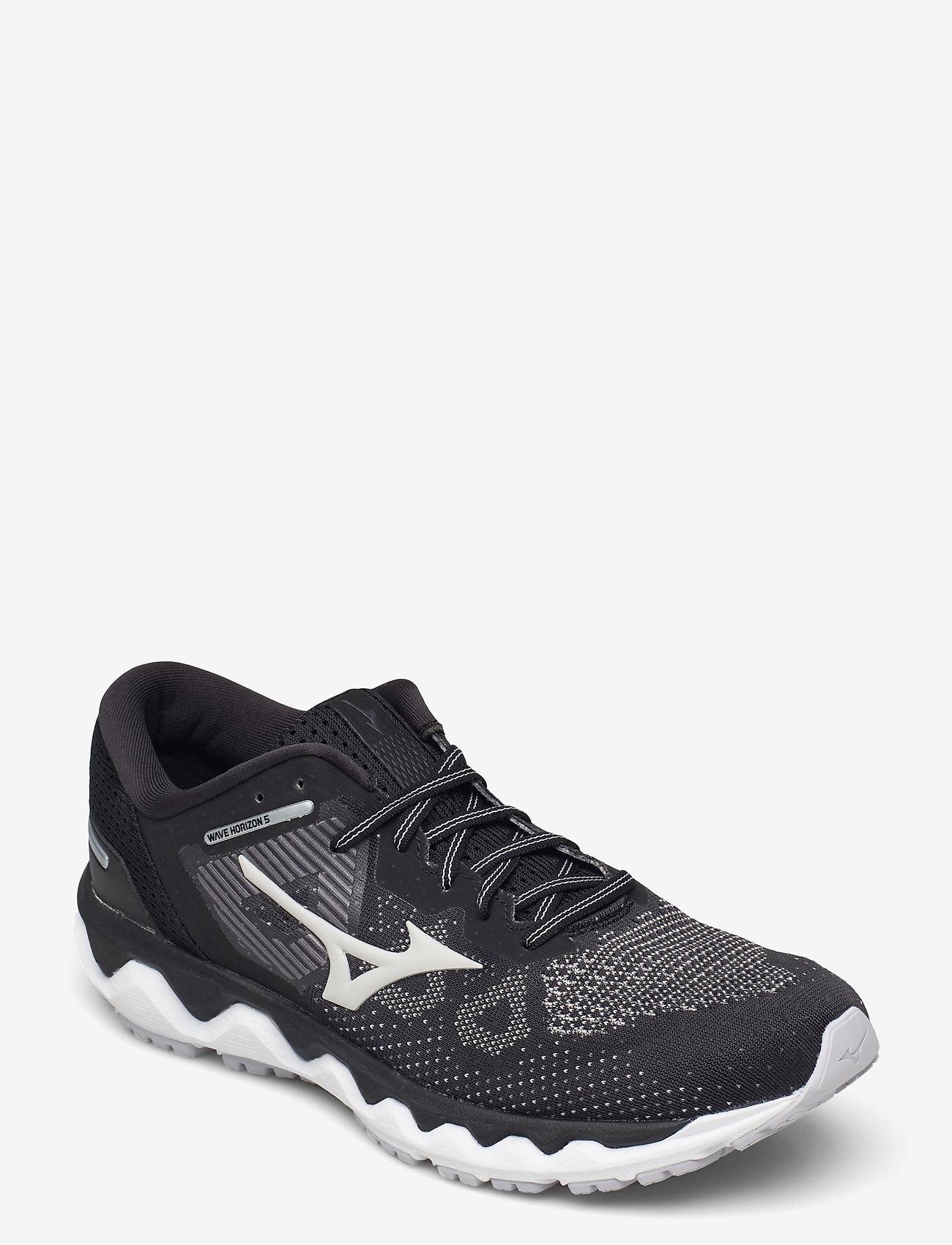 Mizuno - WAVE HORIZON 5(W) - running shoes - black/lunarrock/white - 1
