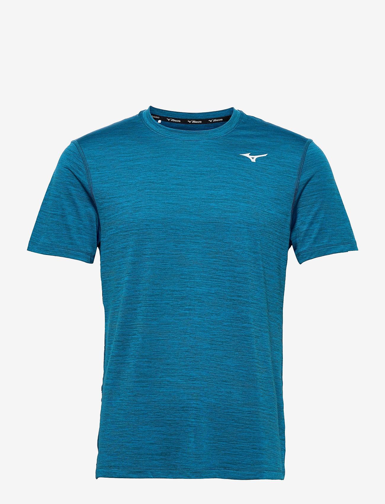 Mizuno - Impulse Core Tee(M) - t-shirts - mykonos blue - 0