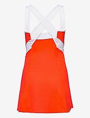 Mizuno - Printed Dress(W) - tshirt jurken - mandarin red/white - 1