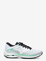 Mizuno - Wave Rider 24(W) - running shoes - white/white/jadecream - 1
