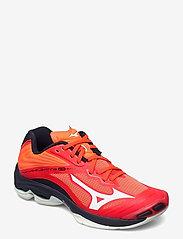 Mizuno - WAVE LIGHTNING Z6 - indoor sports shoes - ignitionr/white/bitoblue - 0