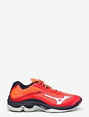 Mizuno - WAVE LIGHTNING Z6 - indoor sports shoes - ignitionr/white/bitoblue - 1