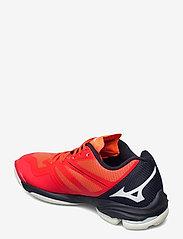 Mizuno - WAVE LIGHTNING Z6 - indoor sports shoes - ignitionr/white/bitoblue - 2