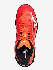 Mizuno - WAVE LIGHTNING Z6 - indoor sports shoes - ignitionr/white/bitoblue - 3