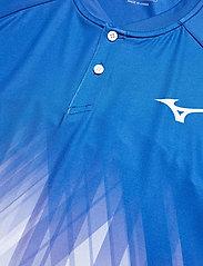 Mizuno - Shadow Polo(M) - t-shirts - nebulas blue/white - 2
