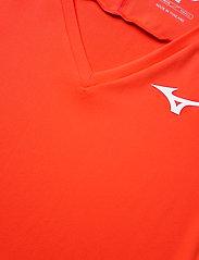 Mizuno - Tee(W) - t-shirts - mandarin red - 2