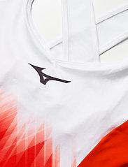 Mizuno - Printed Dress(W) - tshirt jurken - mandarin red/white - 2