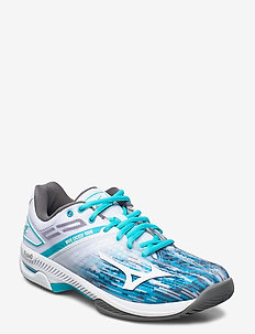 WAVE EXCEED TOUR 4 AC W - tenniskengät - white / scuba blue / quiet shade