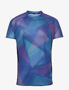 Aero Graphic Tee - sports tops - dazzling blue