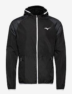 Printed Hoody Jacket(M) - sportsjakker - black