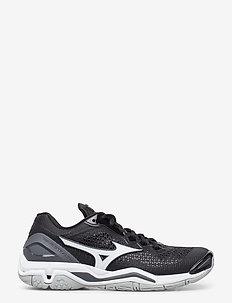 WAVE STEALTH V - indoor sports shoes - black / white / ebony
