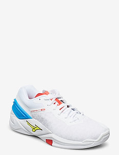 WAVE STEALTH NEO - treningssko - white / safety yelow