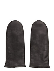Mjm Glove Mitten Leather 2 Leather Black