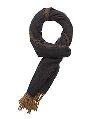 MJM Scarf Dobble Wool Mix Loden - BLACK