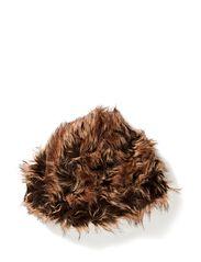 Fur hat Lea W Faux Racoon - BROWN