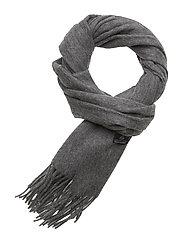 BO Scarf W Solid 100 % Wool Black - GREYMEL