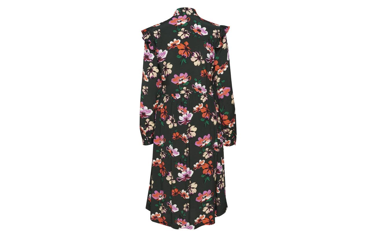 Flower Équipement 100 Wild Dress Julie Print Viscose Modström Long YBw4qHwX
