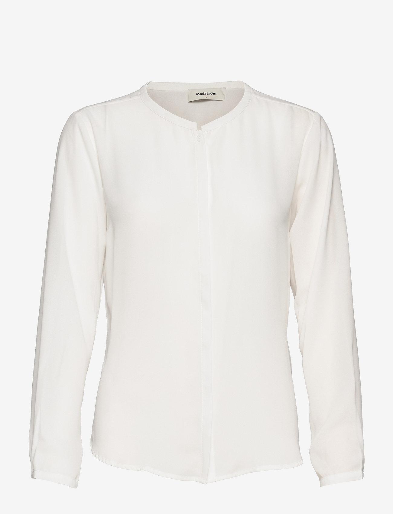 Modström - Cyler shirt - blouses met lange mouwen - porcelain - 0