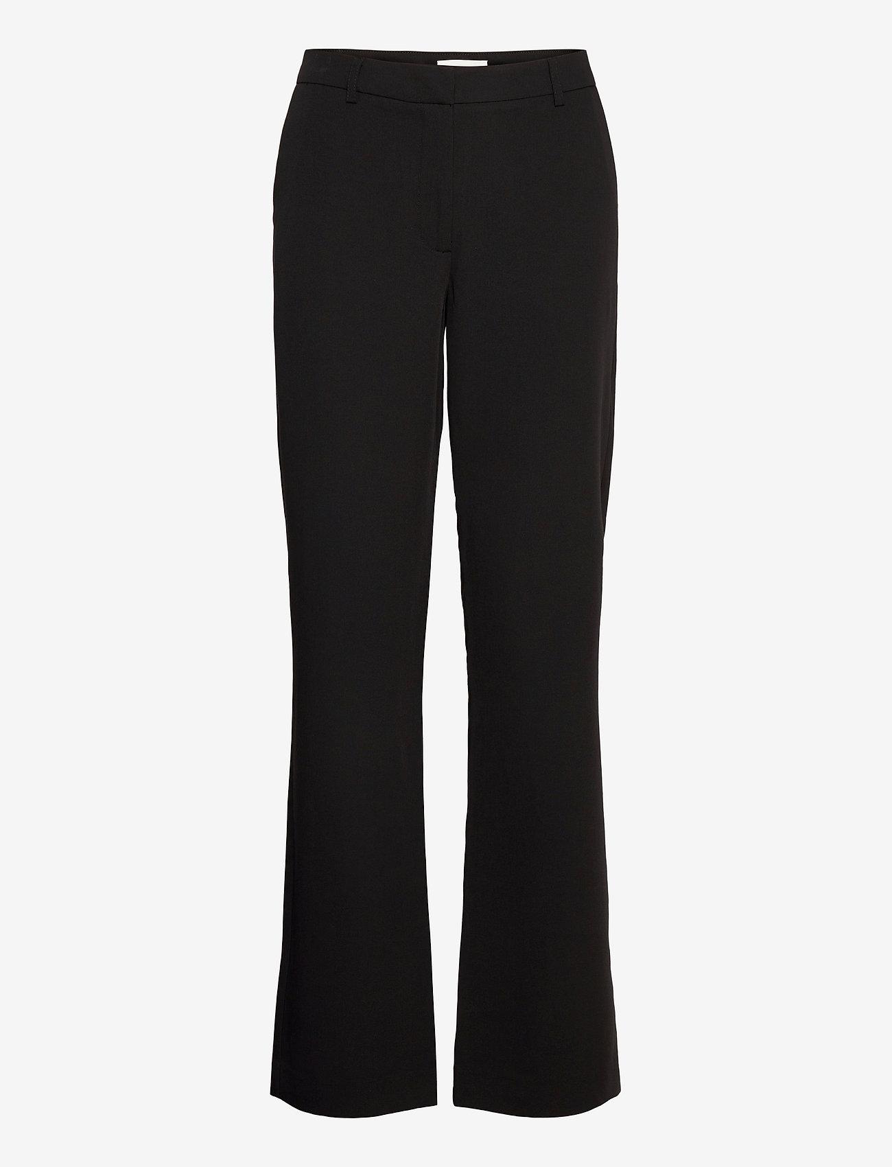Modström - Kendrick wide pants - bukser med brede ben - black - 0