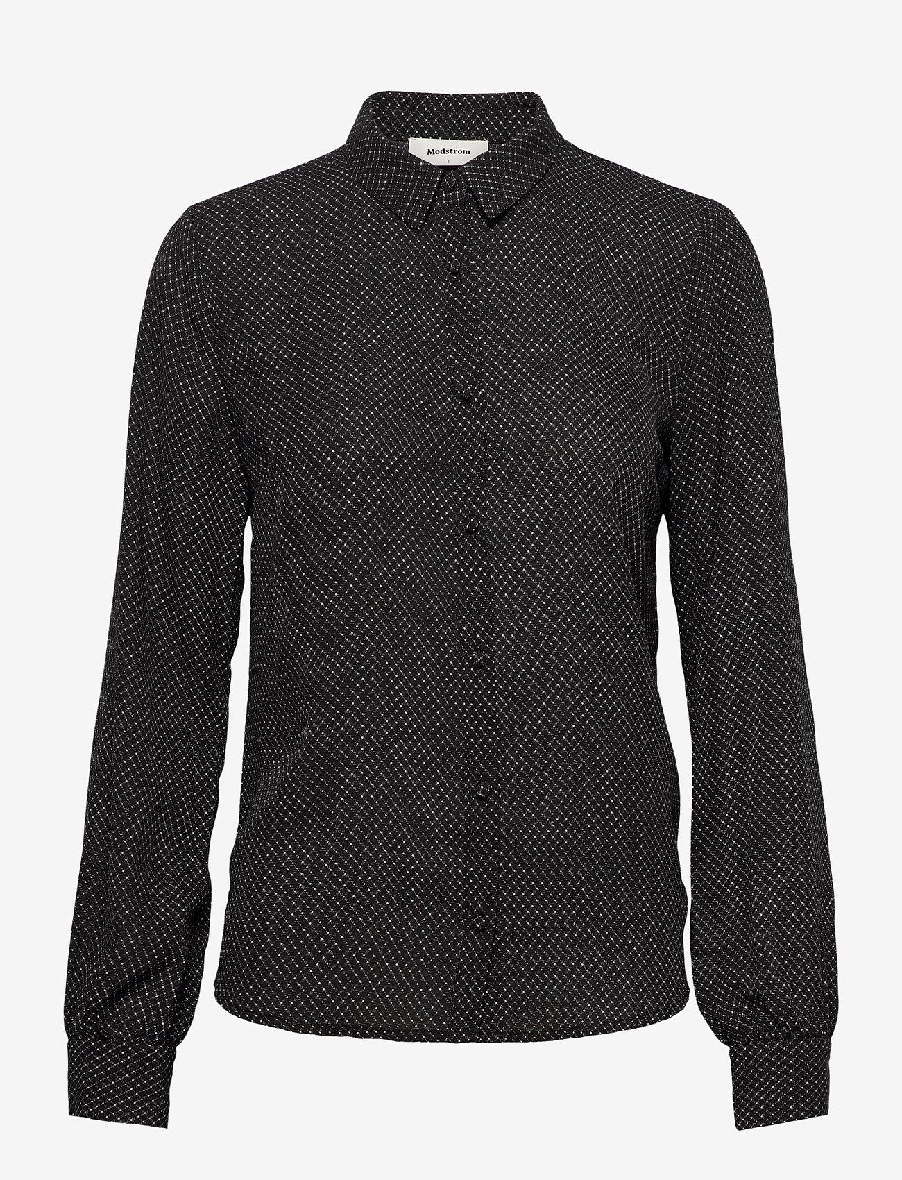 Modström - Edna print shirt - chemises à manches longues - dark grid - 0