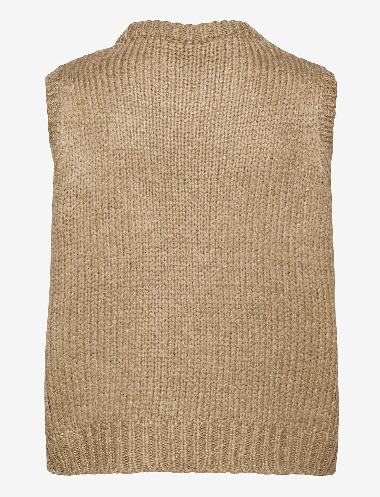 Modström - Valentia vest - knitted vests - camel - 1