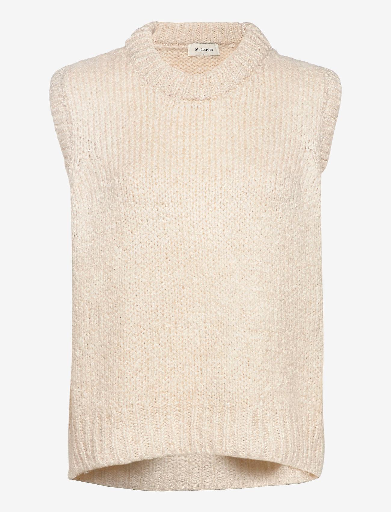 Modström - Valentia vest - knitted vests - off white - 0