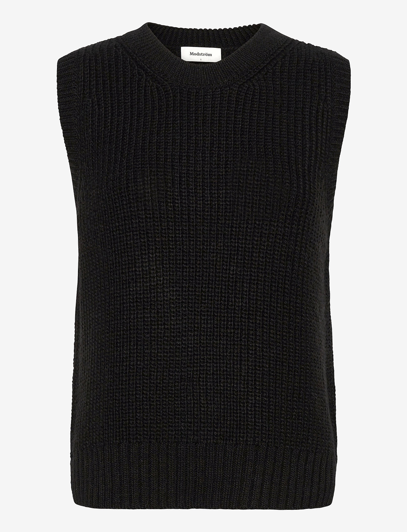 Modström - Timme vest - knitted vests - black - 0
