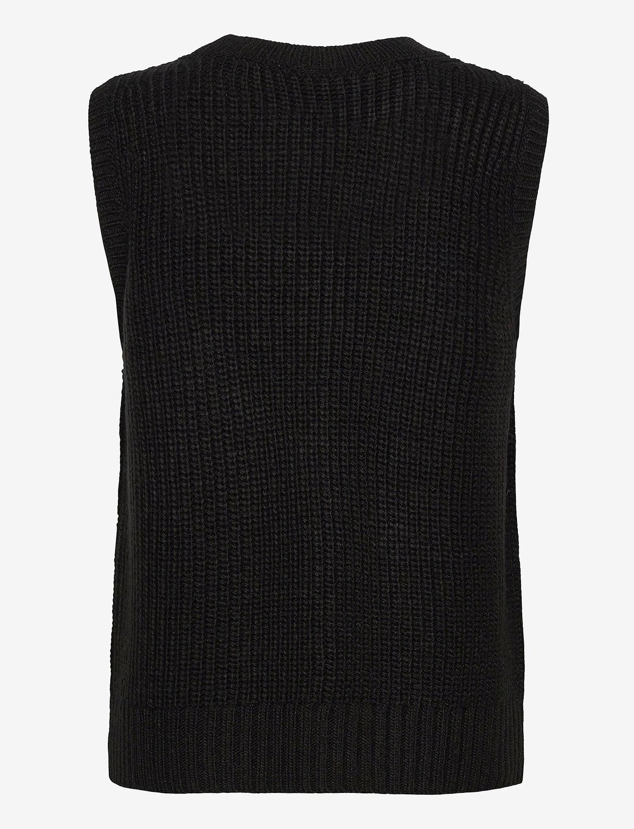 Modström - Timme vest - knitted vests - black - 1