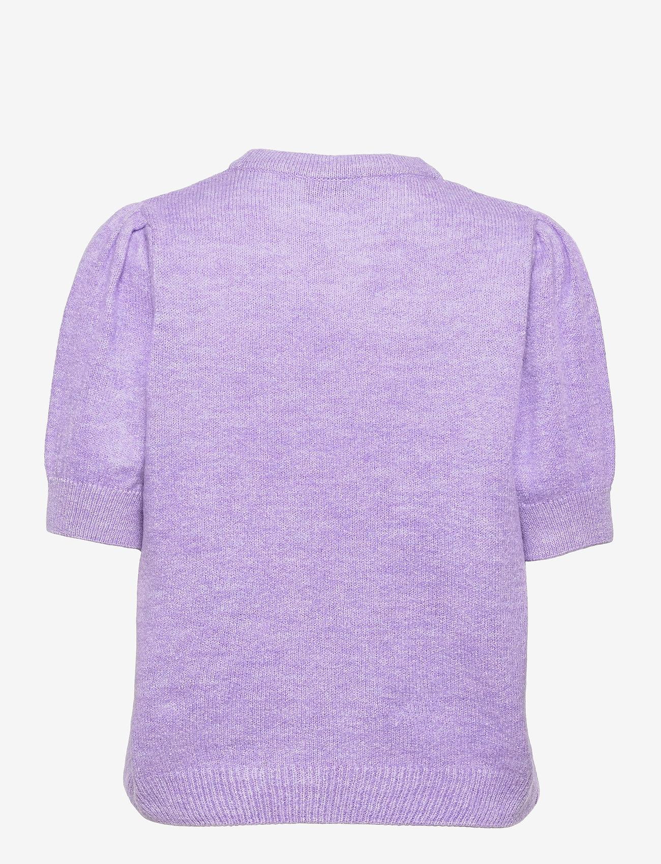 Modström - Juliane o-neck - strikkede toppe - lavender - 1