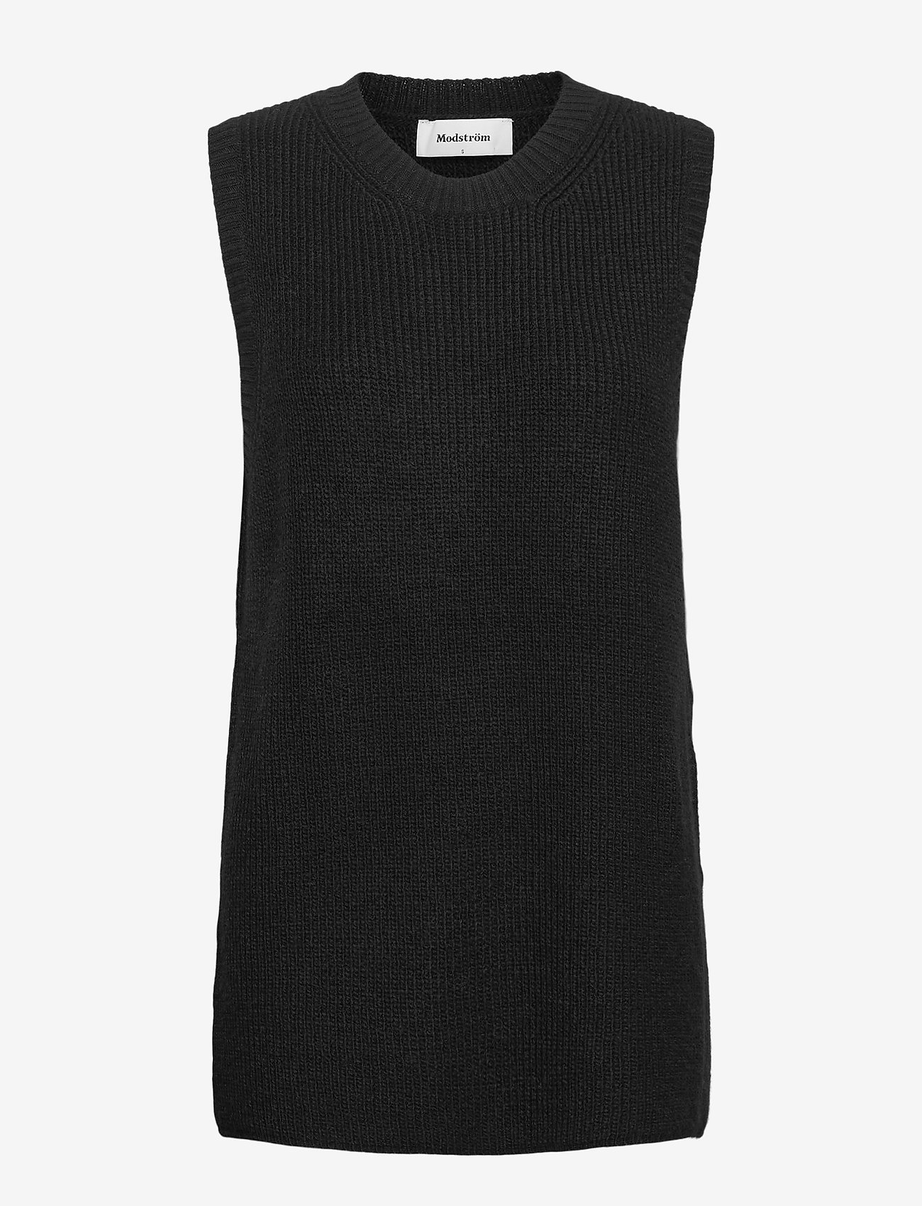 Modström - Trey vest - knitted vests - black - 0