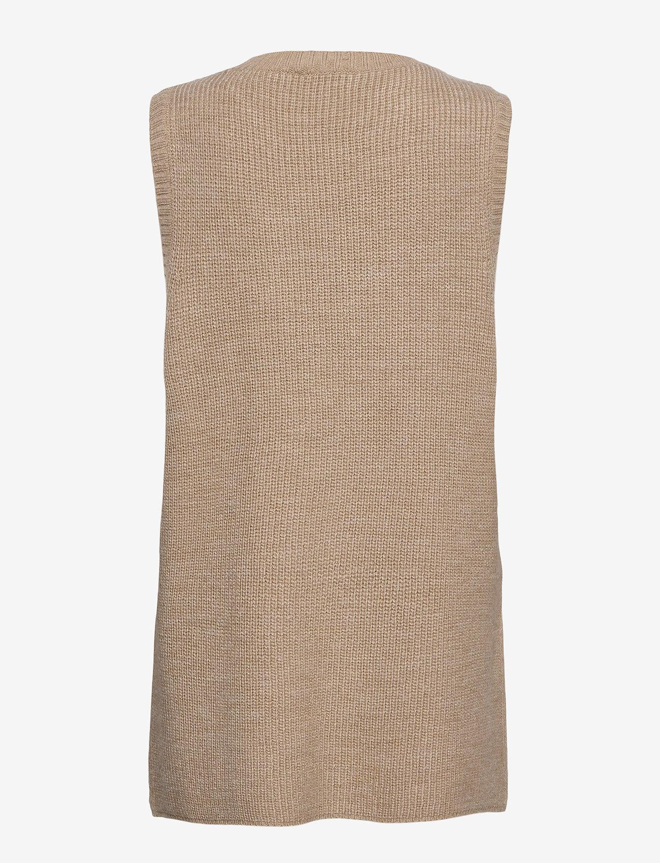 Modström - Trey vest - knitted vests - powder sand - 1