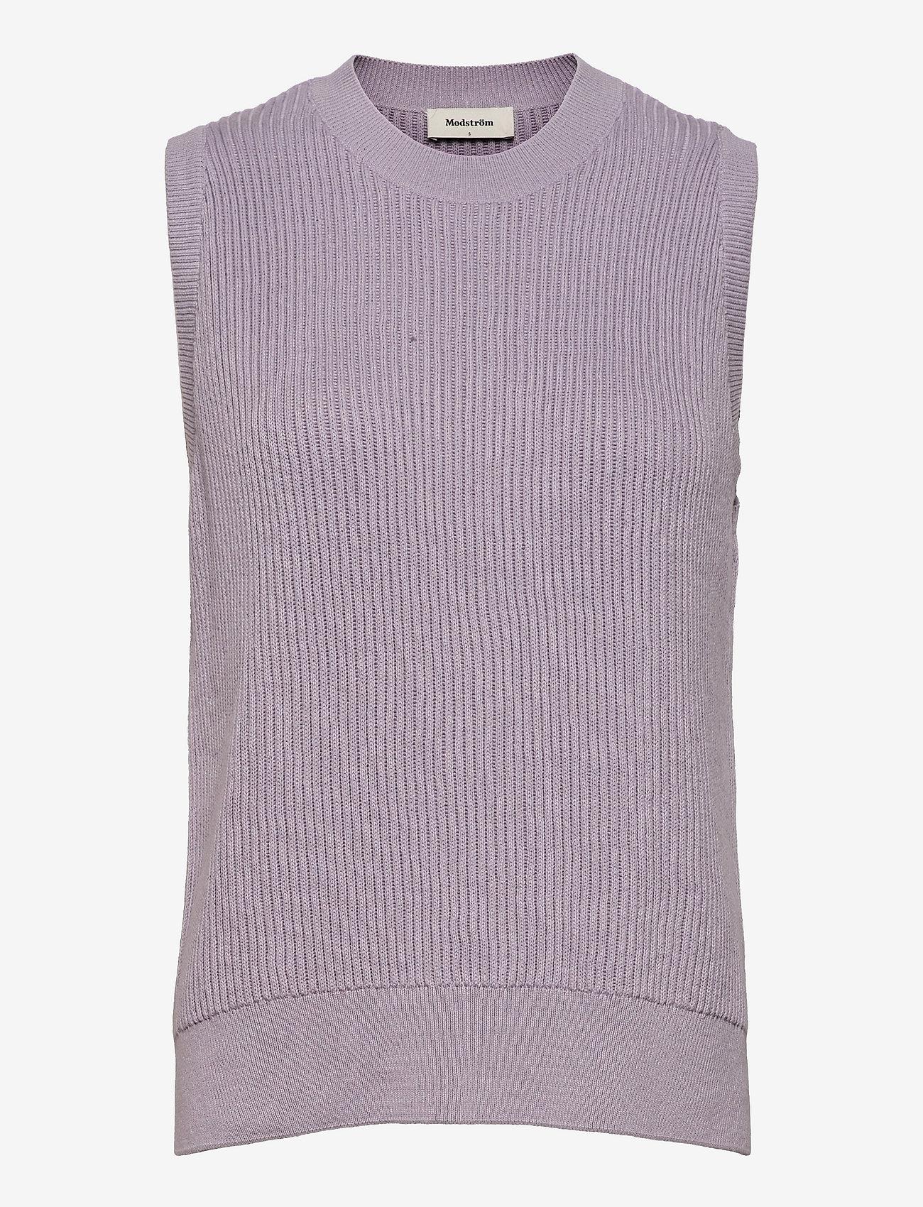 Modström - Luca vest - knitted vests - soft lavender - 0