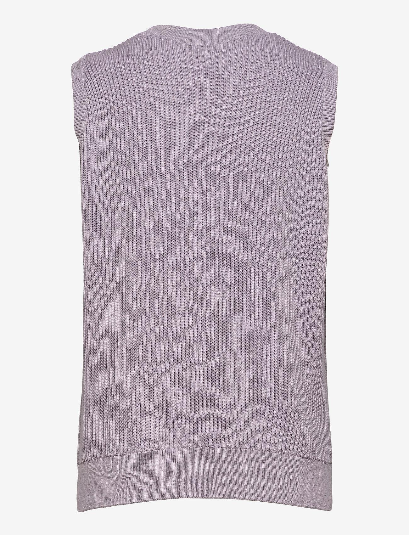 Modström - Luca vest - knitted vests - soft lavender - 1