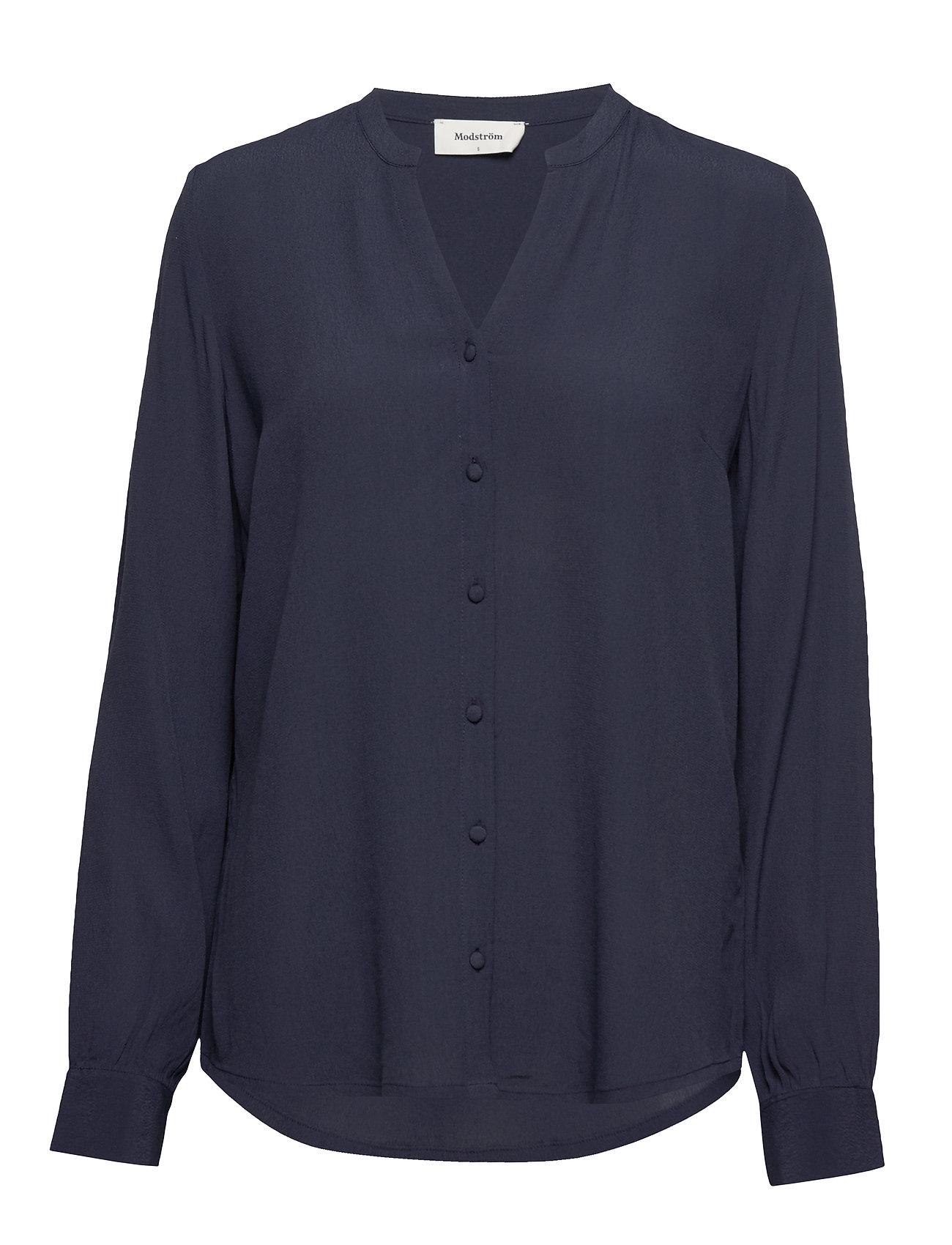 Image of Alissa Shirt Bluse Langærmet Blå Modström (3306685765)