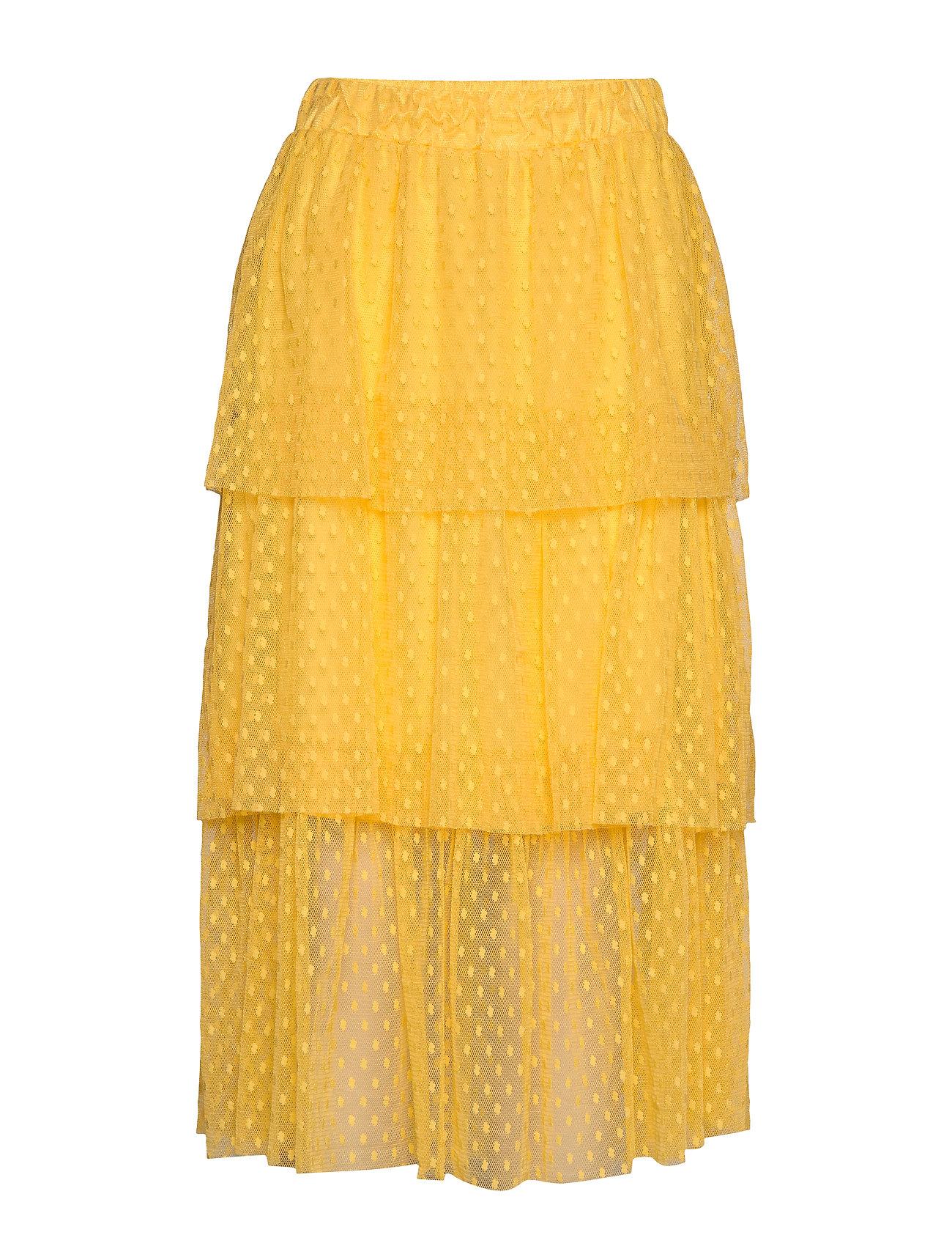 Image of Bilbao Skirt Knælang Nederdel Gul Modström (3350776235)