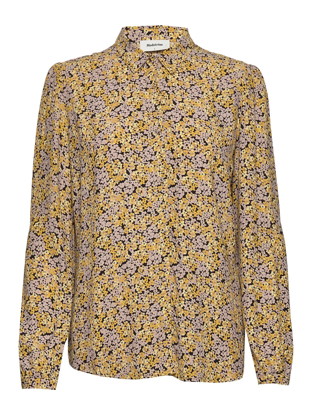 Image of Ella Print Shirt Bluse Langærmet Gul Modström (3419556531)