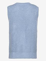 Modström - Timme vest - knitted vests - blue wash - 1