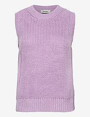 Modström - Timme vest - knitted vests - heather - 0