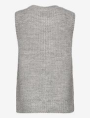 Modström - Timme vest - knitted vests - light grey melange - 1