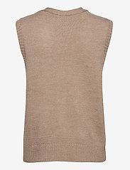 Modström - Hedvig vest - knitted vests - powder sand - 1