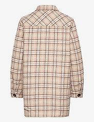 Modström - Ikaia coatigan - overshirts - cream brown check - 1