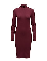 Tanner dress - WINE RED