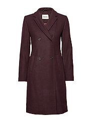 Odelia coat - DARK RUBY