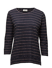 Salina LS t-shirt - NAVY SKY/ROSE/WHITE STRIPE